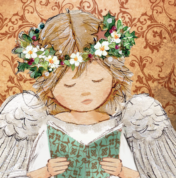 Angel with Prayer Book Christmas Cards